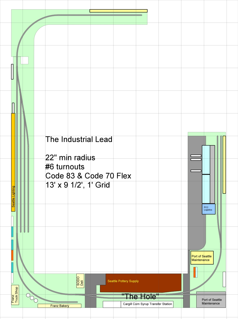 Track Plan - Industrial Lead 01