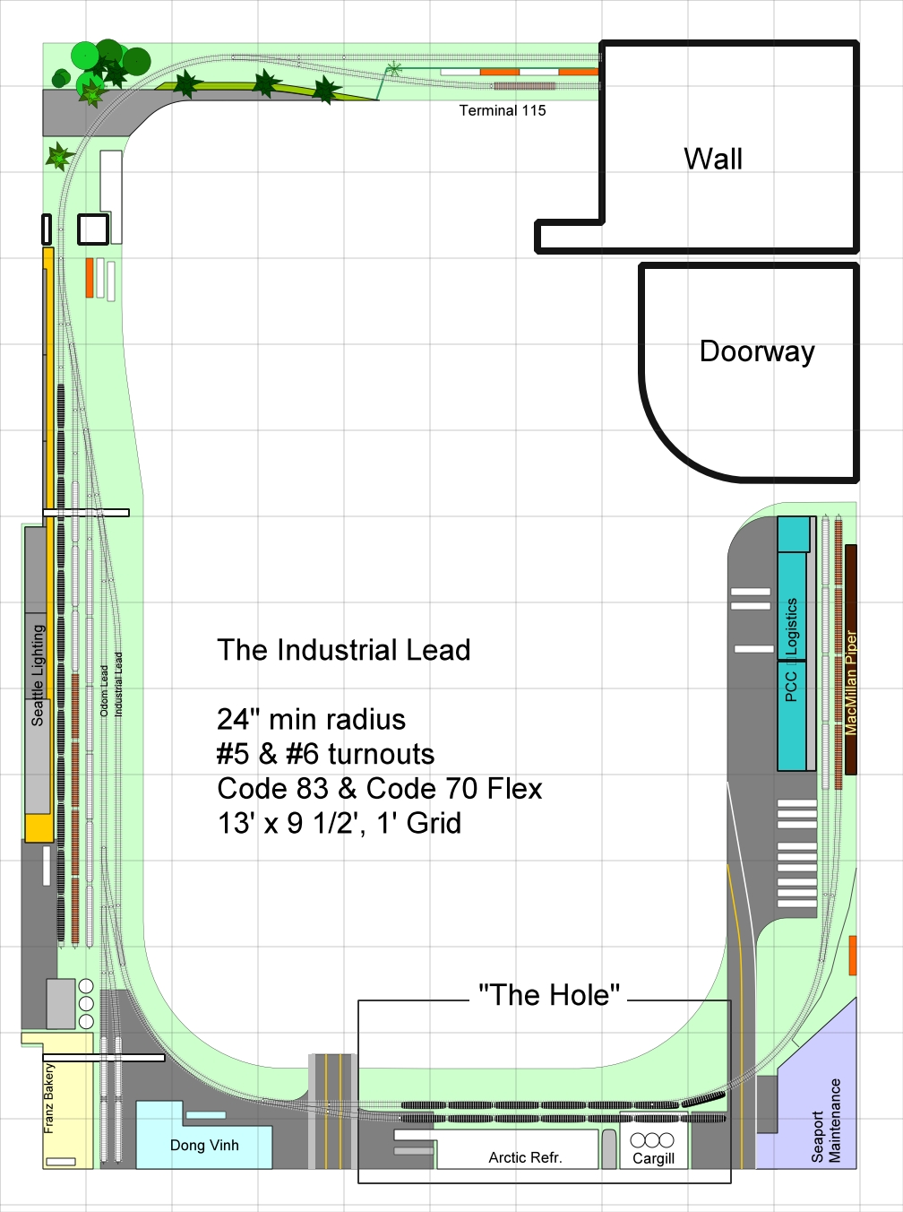 Track Plan - Industrial Lead 26