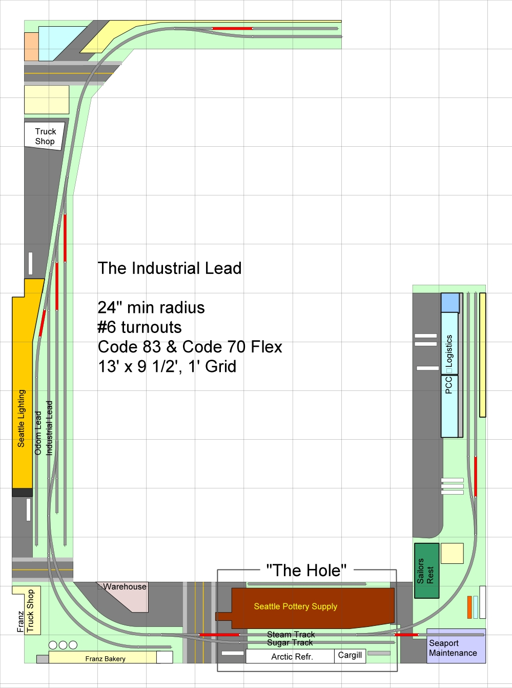 Track Plan - Industrial Lead 03