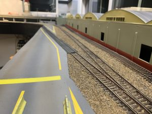 Industrial Lead track ballasted.